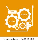 gears with css and html5 web... | Shutterstock .eps vector #264505334