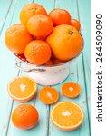 oranges and tangerines in retro ... | Shutterstock . vector #264509090