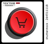 red button start  stop. put in... | Shutterstock .eps vector #264511118
