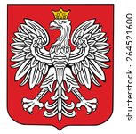 poland coat of arms  seal ... | Shutterstock .eps vector #264521600