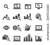 analysis icon set