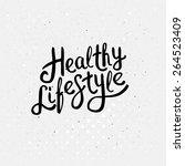 conceptual healthy lifestyle... | Shutterstock .eps vector #264523409