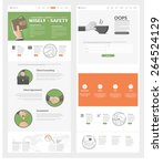 set of two flat pages website... | Shutterstock .eps vector #264524129