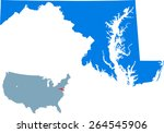 maryland map | Shutterstock .eps vector #264545906