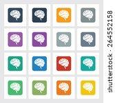 very useful flat icon of brain...