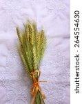 top view of whet crop on...   Shutterstock . vector #264554630