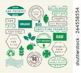 vector set of ecology healthy...   Shutterstock .eps vector #264558554