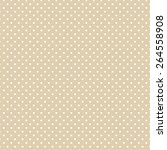 brown polka dot seamless vector ... | Shutterstock .eps vector #264558908