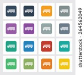 very useful flat icon of truck...