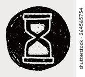 doodle hourglass | Shutterstock . vector #264565754