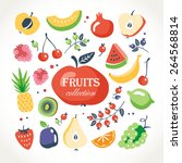 fresh fruits collection | Shutterstock .eps vector #264568814