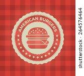 Fast Food Restaurant Label On...