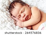 beautiful newborn baby sleeping | Shutterstock . vector #264576836