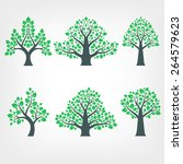 vector collection of tree... | Shutterstock .eps vector #264579623