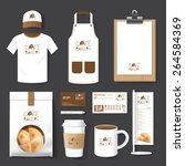 vector restaurant cafe set... | Shutterstock .eps vector #264584369