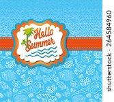 summer design template... | Shutterstock .eps vector #264584960