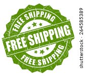 free shipping grunge stamp   Shutterstock .eps vector #264585389