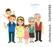 illustration of happy family.... | Shutterstock . vector #264586988