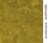 dark yellow leather texture as... | Shutterstock . vector #264591080