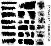 set of 26 vector brush stroke... | Shutterstock .eps vector #264593729