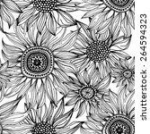 vector seamless pattern of... | Shutterstock .eps vector #264594323