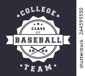 college baseball club vintage... | Shutterstock .eps vector #264595550