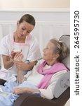 older senior woman receiving