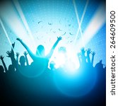 party people in club   vector... | Shutterstock .eps vector #264609500