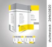 brochure design template... | Shutterstock .eps vector #264610820