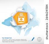 vial of medicine and...   Shutterstock .eps vector #264624584