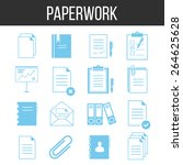 paperwork and documents icons...