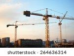 construction of a shopping... | Shutterstock . vector #264636314
