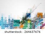 abstract vector background.... | Shutterstock .eps vector #264637676