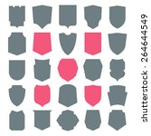 shield icons set. different... | Shutterstock .eps vector #264644549