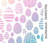seamless random easter eggs... | Shutterstock .eps vector #264652706