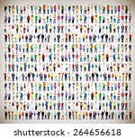 multiethnic casual people...   Shutterstock . vector #264656618