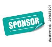 sponsor rectangle sticker and... | Shutterstock . vector #264658904