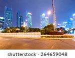 the light trails on the modern... | Shutterstock . vector #264659048