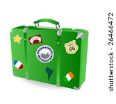 a retro suitcase with baggage... | Shutterstock .eps vector #26466472