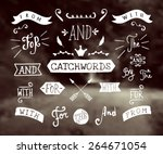 a set of hand drawn catchwords... | Shutterstock .eps vector #264671054