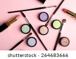 set of decorative cosmetics on... | Shutterstock . vector #264683666
