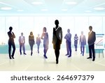business people group... | Shutterstock .eps vector #264697379