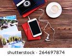 preparing for travel... | Shutterstock . vector #264697874