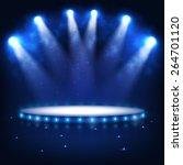 illuminated podium for...   Shutterstock .eps vector #264701120
