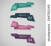 vector infographic origami... | Shutterstock .eps vector #264702143
