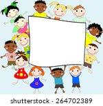 illustration of children of... | Shutterstock . vector #264702389