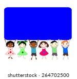 illustration of children of...   Shutterstock . vector #264702500