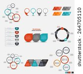 collection of infographic... | Shutterstock .eps vector #264705110