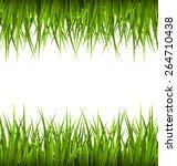 green grass like frame isolated ... | Shutterstock .eps vector #264710438