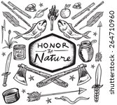 honor the nature vector... | Shutterstock .eps vector #264710960